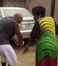 Actor Charles Okocha And His Mum Do The Famous